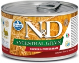 N&D DOG ANCESTRAL (LOW) GRAIN Adult Chicken &Pomegranate Mini 140g - akce 1+1ZDARMA