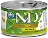 N&D DOG PRIME Adult Boar & Apple Mini 140g - akce 1+1ZDARMA