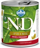 N&D DOG PRIME Puppy Chicken & Pomegranate 285g - akce 1+1ZDARMA