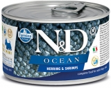 N&D DOG OCEAN Adult Herring & Shrimps Mini 140g - akce 1+1ZDARMA