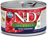N&D DOG QUINOA Weight Management Lamb & Brocolli Mini 140g - akce 1+1ZDARMA