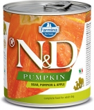 N&D DOG PUMPKIN Adult Boar & Apple 285g - akce 1+1ZDARMA
