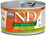 N&D DOG PUMPKIN Adult Boar & Apple Mini 140g - akce 1+1ZDARMA
