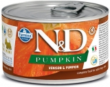 N&D DOG PUMPKIN Adult Venison & Pumpkin Mini 140g - akce 1+1ZDARMA