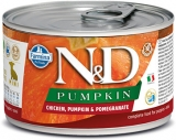 N&D DOG PUMPKIN Puppy Chicken & Pomegranate Mini 140g - akce 1+1ZDARMA