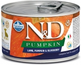 N&D DOG PUMPKIN Puppy Lamb & Blueberry Mini 140g - akce 1+1ZDARMA