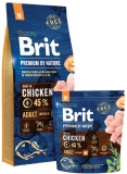Brit Premium by Nature Adult M 15kg + Sausage ZDARMA!