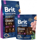 Brit Premium by Nature ADULT S 8kg + Sausage ZDARMA!