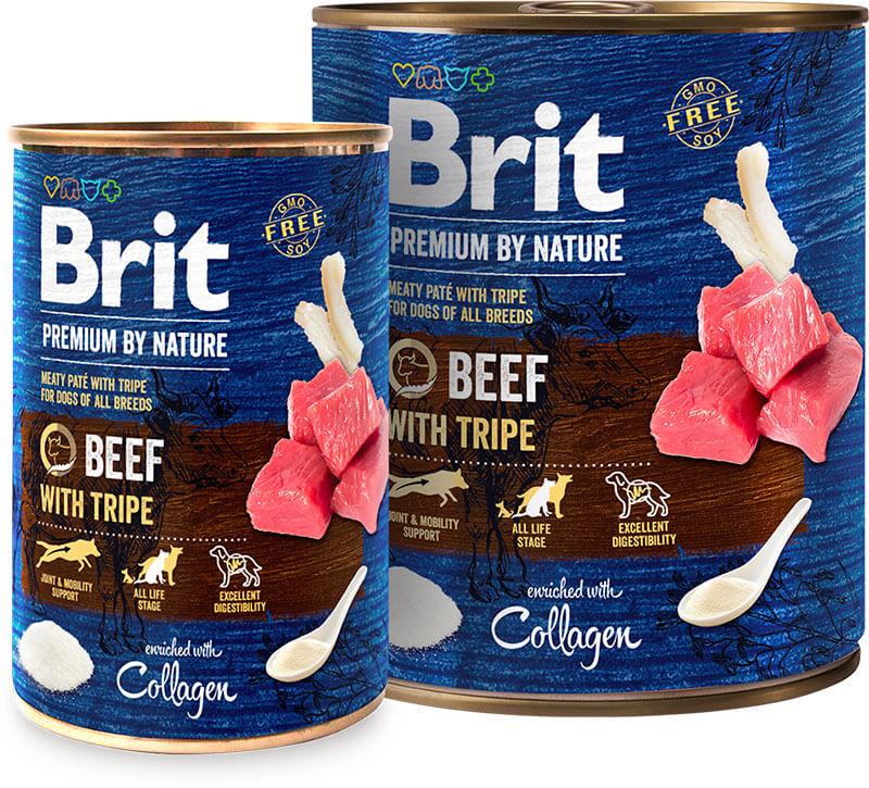 Brit Premium by Nature Beef with Tripe konz. 800g