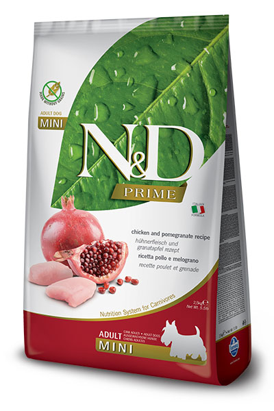 N&D Prime Dog Adult Mini Chicken & Pomegranate 7kg