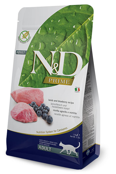 N&D Prime Cat Adult Lamb and Blueberry 10kg