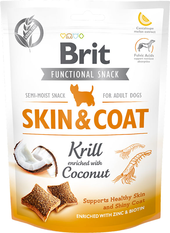Brit Care Dog Functional Snack Skin&Coat Krill 150g