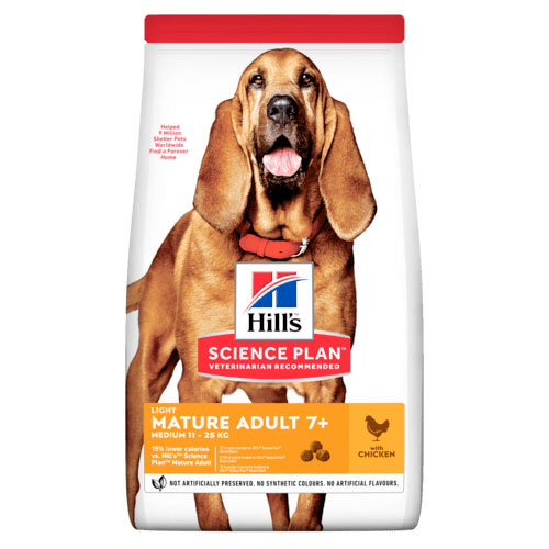 Hill's Ca SP Mature Adult 7+ Light Medium Chicken 14kg