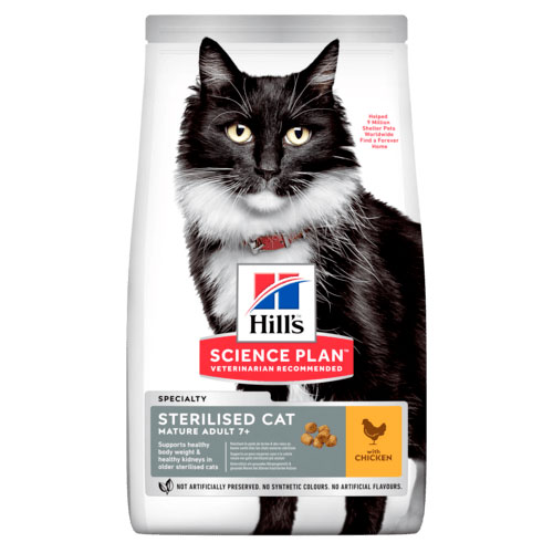 Hill's Fe SP Mature Adult 7+ Sterilised Cat Chicken 10kg