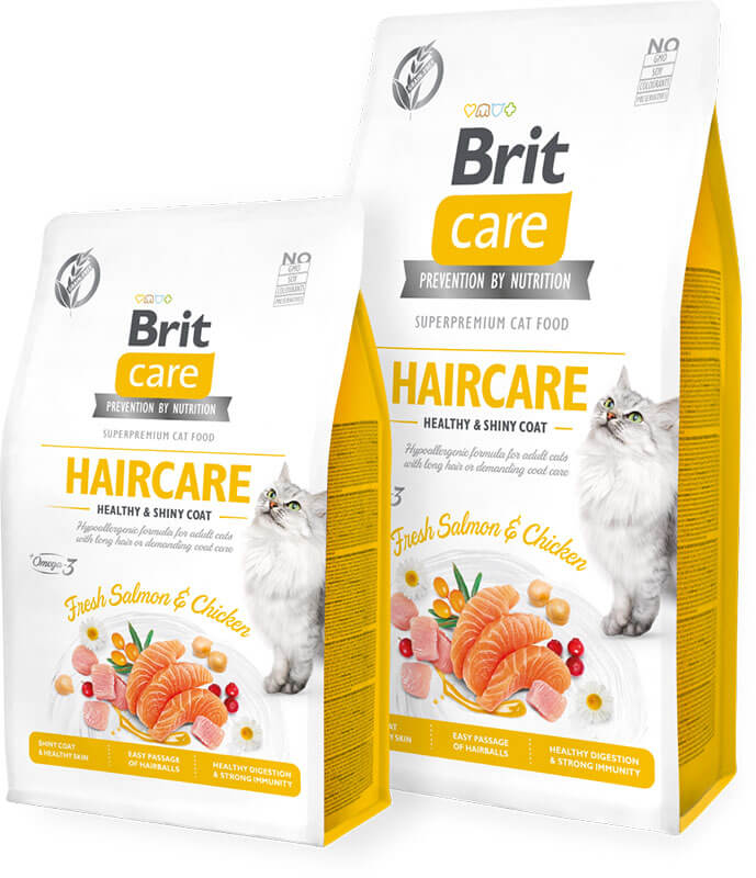 Brit Care Cat GF Haircare Healthy and Shiny Coat 7kg