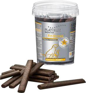 PLATINUM Natural FIT Sticks Chicken & Rabbit 300g