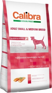 Calibra Dog GF Adult Small & Medium Salmon 2kg