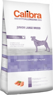 Calibra Dog HA Junior Large Breed Chicken 3kg - akce 3+1 ZDARMA