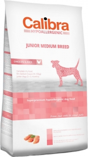 Calibra Dog HA Junior Medium Breed Chicken 3kg - akce 3+1 ZDARMA