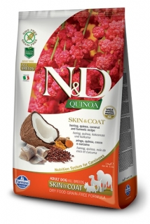 N&D GF Quinoa DOG Skin&Coat Herring & Coconut 800g