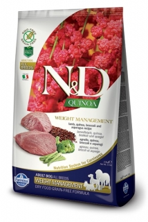 N&D GF Quinoa DOG Weight Management Lamb & Broccoli 800g