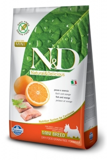 N&D GF DOG Adult Mini Fish & Orange 7kg