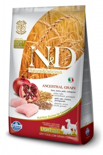 N&D LG DOG Light S/M Chicken & Pomegranate 800g