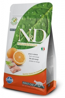 N&D GF CAT Adult Fish & Orange 300g