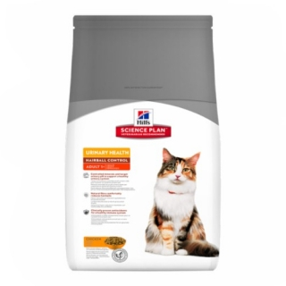 Hill´s Feline Adult Urinary Health Hairball Control 3kg