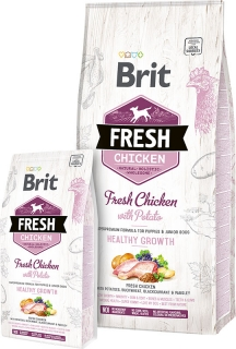 Brit Fresh Chicken with Potato Puppy Healthy Growth 2,5kg