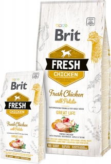 Brit Fresh Chicken with Potato Adult Great Life 2,5kg