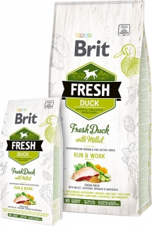 Brit Fresh Duck with Millet Adult Run & Work 2,5kg