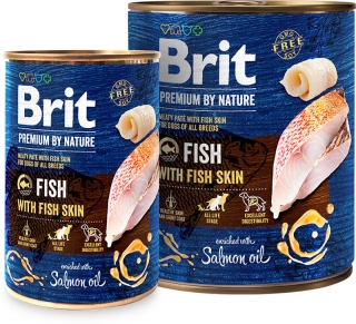 Brit Premium by Nature Fish with Fish Skin konz. 800g