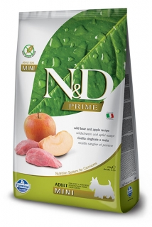 N&D Prime Dog Adult Mini Wild Boar and Apple 7kg