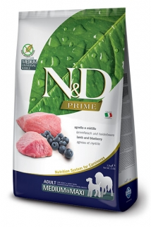 N&D Prime Dog Adult M/L Lamb and Blueberry 12kg