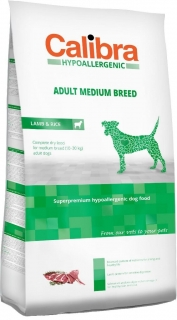 Calibra Dog HA Adult Medium Breed Lamb 14kg - akce 3+1 ZDARMA
