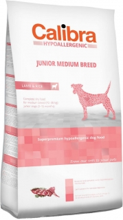 Calibra Dog HA Junior Medium Breed Lamb 14kg - akce 3+1 ZDARMA