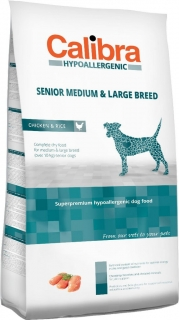 Calibra Dog HA Senior Medium & Large Chicken 14kg - akce 3+1 ZDARMA