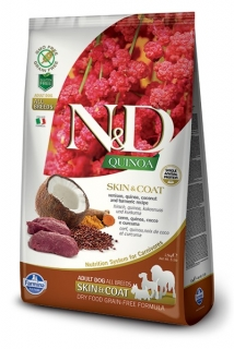 N&D GF Quinoa DOG Skin&Coat Venison & Coconut 2,5g