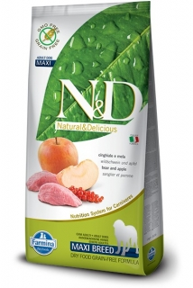 N&D GF DOG Adult Maxi Boar & Apple 12kg
