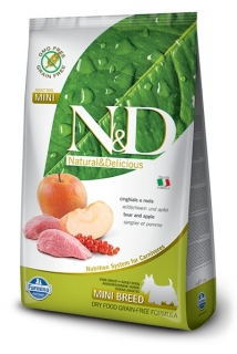 N&D GF DOG Adult Mini Boar & Apple 2,5kg