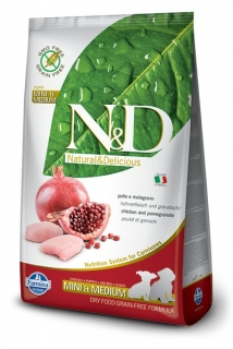 N&D GF DOG Puppy S/M Chicken & Pomegranate 12kg