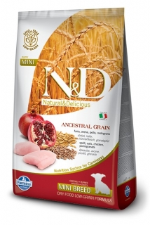 N&D LG DOG Puppy Mini Chicken & Pomegranate 2,5kg