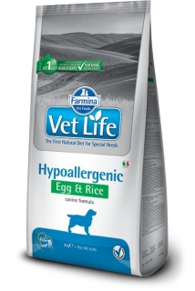Vet Life Natural Dog Hypoallergenic Egg & Rice 12kg