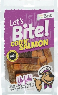 Brit Let's Bite Cod'n'Salmon 80g