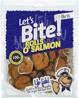 Brit Let's Bite Rolls o'Salmon 400g