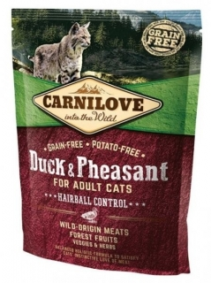Carnilove Cat Duck & Pheasant Adult Hairball Control 400g