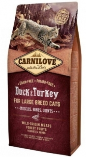 Carnilove Cat LB Duck & Turkey Muscles, Bones, Joints 6kg