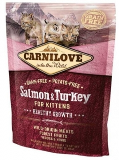 Carnilove Cat Salmon & Turkey for Kittens Healthy Growth 400g