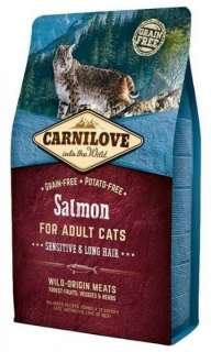 Carnilove Cat Salmon for Adult Sensitiv & Long Hair 2kg